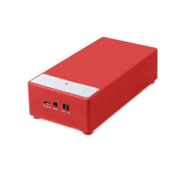 Supersonic SC-1345 Speaker System - 2 W RMS - Portable - Battery Rechargeable - Red - 100 Hz - 20 kHz - iPod Supported