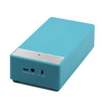 Supersonic SC-1345 Speaker System - 2 W RMS - Portable - Battery Rechargeable - Blue - 100 Hz - 20 kHz - iPod Supported