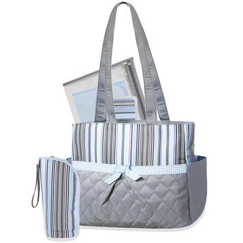 Rose Art 5-in-1 Striped Diaper Bag