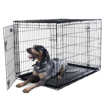 Trademark Global Llc Petmaker 2-Door Foldable Dog Crate Cage