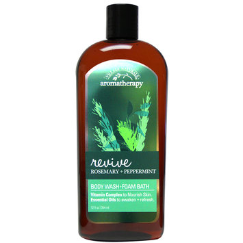 Minnetonka Aromatherapy Revive Peppermint Rosemary Body Wash Foam Bath 12 oz.