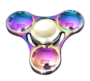 ALPHA DIGITAL EDC Triangle Fidget Spinner, Stainless Steel Bearing, 3-5 Minute Spin Time, Helps Improve Attention, Reduce Stress & Anxiety, Multi-Color