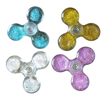 ALPHA DIGITAL Flowing Sand Tri-vane Fidget Spinner, Durable Bearing, 1-2 Minute Spin Time, Helps Improve Attention, Reduce Stress & Anxiety, Multi-Color