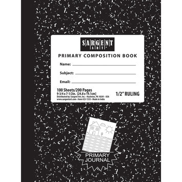 My Three Sons Limited Inc. Sargent Art Hard Cover Primary Ruled Comp Notebook 100 Shts Per Pk, Bundle Of 12, White