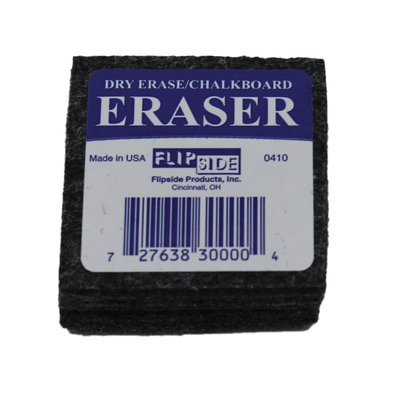 My Three Sons Limited Inc. Flipside Products 2X2 Student Eraser, Bundle Of 2, Black