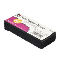 Charles Leonard Multi-Purpose Dry-Erase Chalkboard Erasers, 5in, Black, Case Of 24