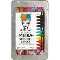 Ranger Industries Inc. Dina Wakley Media Scribble Sticks 12/Pkg, Black