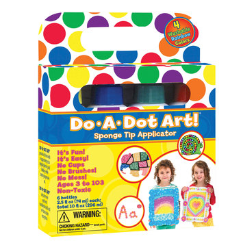 My Three Sons Limited Inc. Do-A-Dot Art Rainbow Washable Markers, 4/Pkg, Bundle Of 2