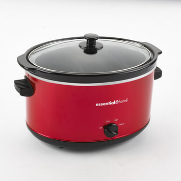 David Shaw Silverware Na Ltd Essential Home MST-8000R 8Qt Slow Cooker, Red