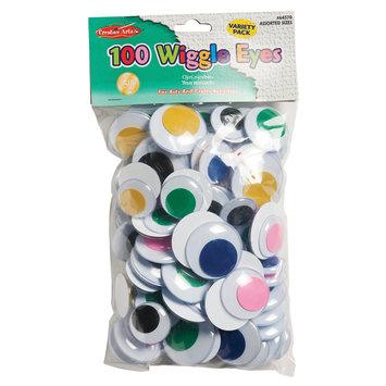 Charles Leonard Inc Charles Leonard, Inc. Jumbo Round Wiggle Eyes, Assorted Colors, 100 Per Bag, Pack Of 2 Bags