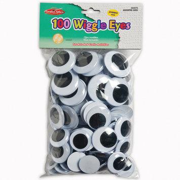 Charles Leonard Inc Charles Leonard, Inc. Jumbo Round Wiggle Eyes, Black, 100 Per Bag, Pack Of 2 Bags