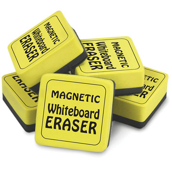 The Pencil Grip(TM) Magnetic Whiteboard Erasers, 2in. x 2in, Yellow, 2 Packs Of 12