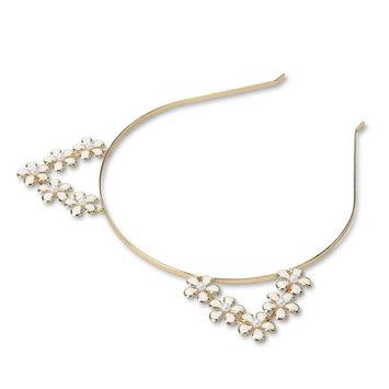 K & M Associates L.p. Women's Goldtone Cat Ear Headband