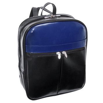 Mcklein Usa McKlein L Series Edison Leather Laptop Backpack - BlackNavy