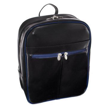 Mcklein Usa McKlein L Series Edison Leather Laptop Backpack - BlackNavy Trim