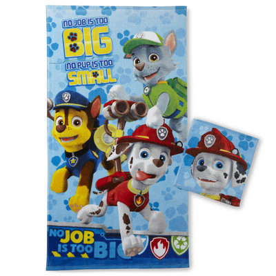 Franco Manufacturing PAW Patrol Washcloth & Bath Towel