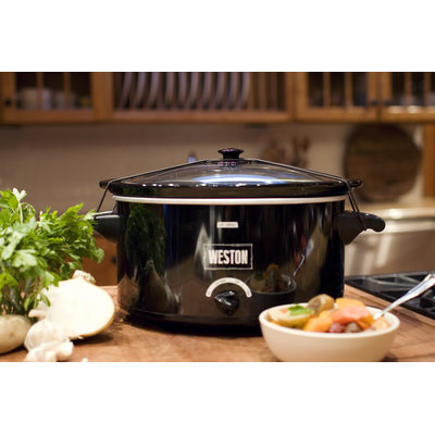 Weston Slow Cooker 8 qt. with Lid Latch Strap