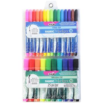 Duncan Enterprises I Love to Create Fabric Markers Fine & Brush Tip 25/Pkg Assorted