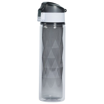 Tabletops Unlimited, Inc 18 Oz. Double Wall Bottle w/One Touch & Lock- Titanium
