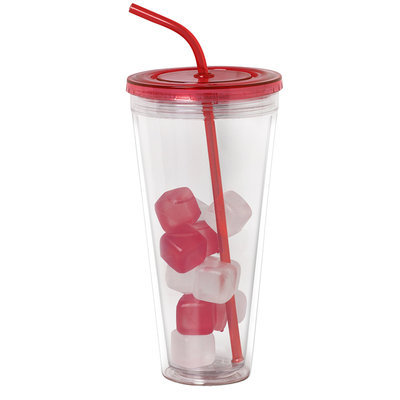 30 Oz. Double Wall Classic Tumbler - Red