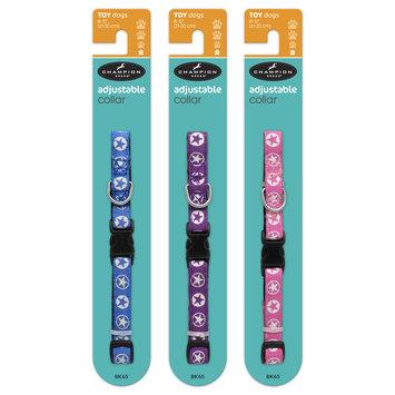 Mygofer Toy Size Star Ribbon Adjustable Dog Collar, 8-12