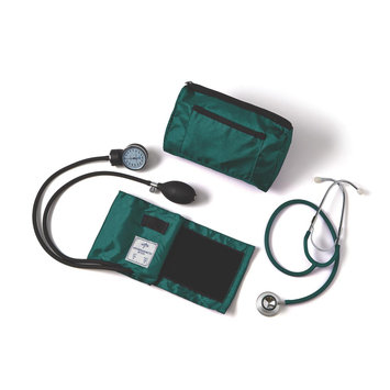 Medline Industries Medline Compli-Mate Dual Head Aneroid Sphygmomanometer Combination Kit (7 Color Options)