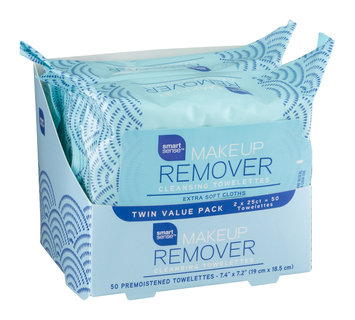 Mygofer Makeup Remover Cleansing Towelettes Twin Value Pack - 50 CT