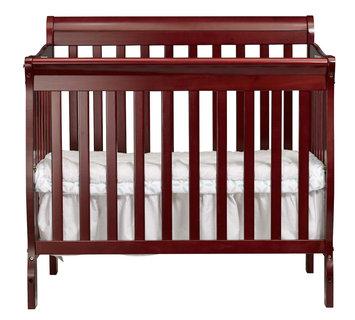 Shreeram Overseas Kayla 3 in 1 Mini Convertible Crib in Cherry