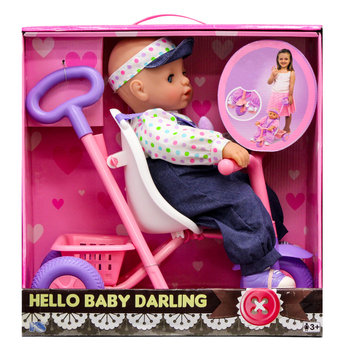 Ks Toys Baby Darling with Tricycle Play Set