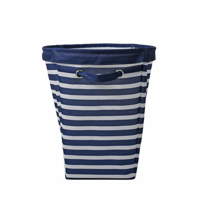 David Shaw Silverware Na Ltd Large Round Bin - Blue Stripe