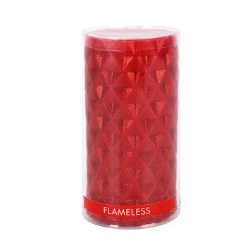 Anco Merchandise Co., Ltd. Essential Home Medium Flameless Glittered Pillar Candle