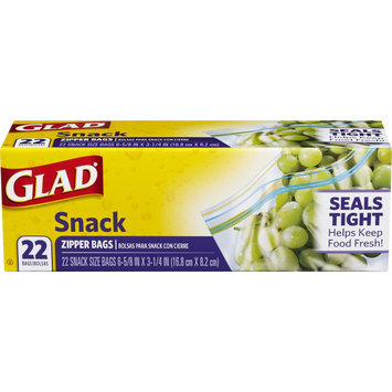 Glad Snack Zipper Bags, 22 Ct