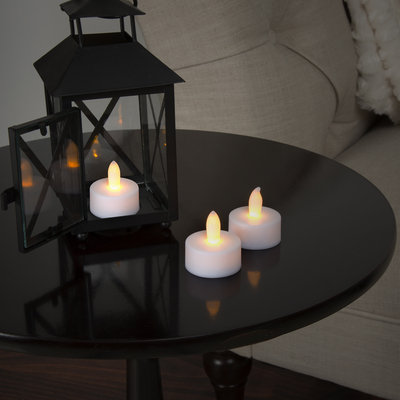 Trademark Global Games 24 Piece Tea Light Battery Operated Candle Set Batteries Included