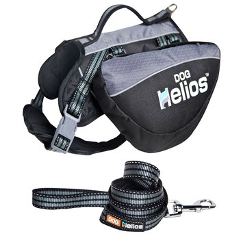 Pet Life Helios Freestyle 3-in-1 Explorer Convertible Backpack, Harness and Leash, Black, Small