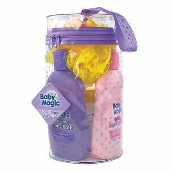 Baby Magic Bath Time Favorites Gift Bag NEW ( 9oz Calming Bath, 9oz Original Lotion, 9oz Yellow Wash, -2oz Original Lotion, -2oz Yellow Wash, Duck Pouf & reusable bag, 7 Count
