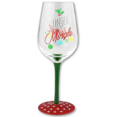 Jingle N Mingle Holiday Wine Goblet