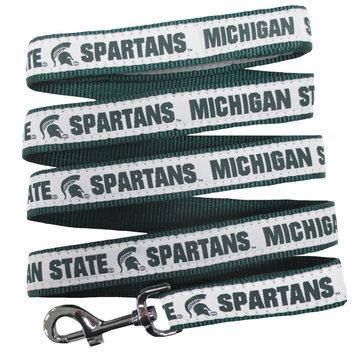 Ncaa Pets First Michigan State Spartans Nylon Pet Leash, Multicolor