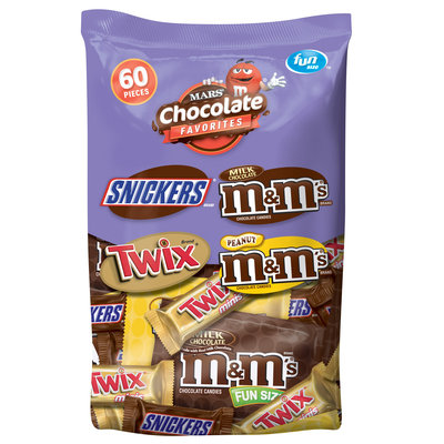 Mars Chocolate Favorites, 60 Piece, 33.90 oz