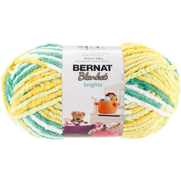 Spinrite Bernat Blanket Brights Big Ball Yarn-Lemonade Variegated
