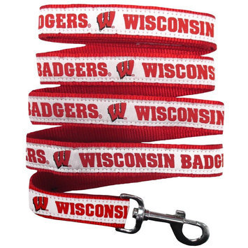 Ncaa Pets First Wisconsin Badgers Nylon Pet Leash, Multicolor