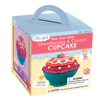 University Games My Studio Girl Sew-Your-Own Strawberries & Cream Cupcake