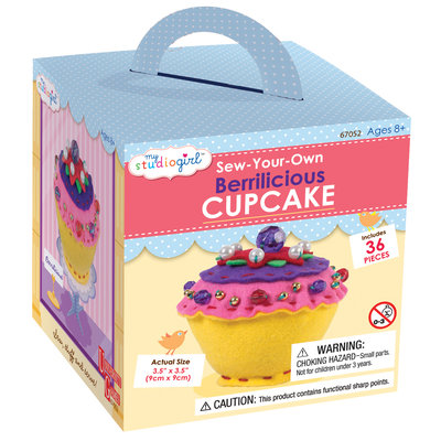 University Games My Studio Girl Sew-Your-Own Berrilicious Cupcake