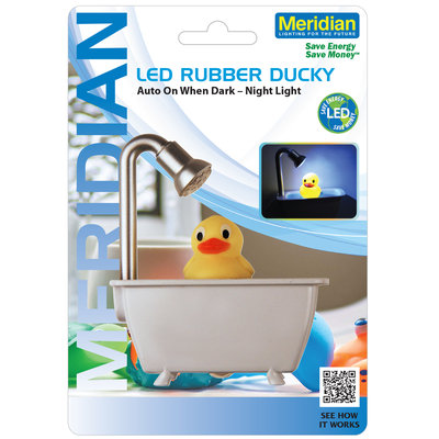 Mary Elle Fashions, Inc. Led Auto Duck In A Tub Night Light