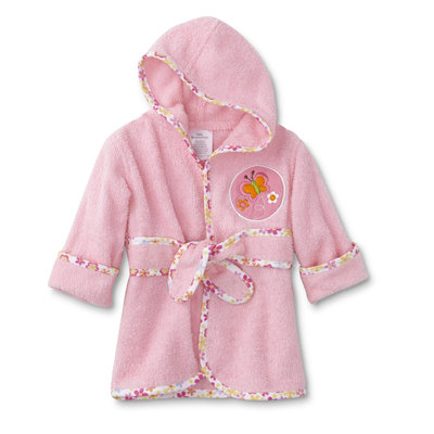 Cudlie Infant Girls' Bath Robe - Butterfly, Infant Girl's