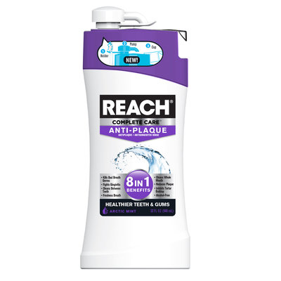 Reach Complete Care 8-In-1 Anti-Plaque Anti Gingivitis Mouth Rinse - 32Oz