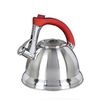 Supersonic Gibson Mr. Collinsbroke 2.4qt Stainless Steel Tea Kettle with Red Handle