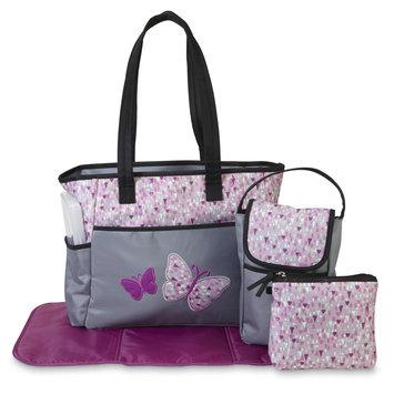 Misc Brands Tender Kisses Sorbet 3 Piece Diaper Bag Set with Bonus Bottle Bag