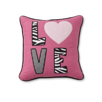 Rose Art Tender Kisses Nursery Pillow - Love & Zebra Print