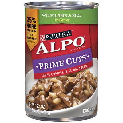 Alpo Prime Cuts in Gravy with Lamb & Rice
