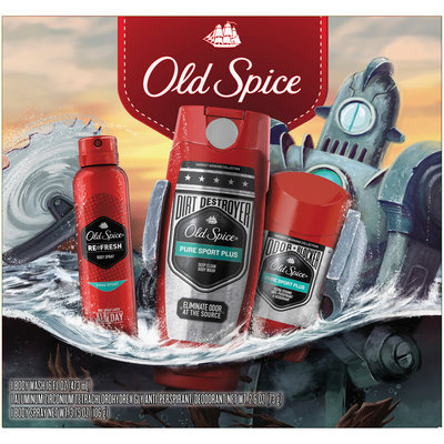 Old Spice Hardest Working Collection Pure Sport Plus 3 Piece Holiday Pack